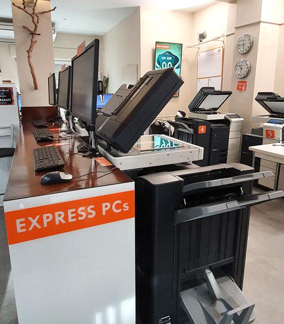Kopieren und Drucken und Binden