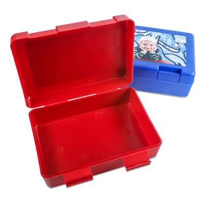 Brotbox Blau und Rot