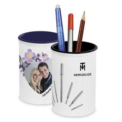 Stiftkoecher mit Firmenlogo